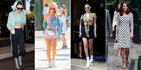 Clothing, Street fashion, Fashion, Fashion model, Footwear, Shorts, Shoe, Jeans, Sandal, Waist,