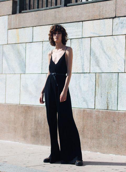 Clothing, Dress, Shoulder, Black, Fashion, Beauty, Fashion model, Street fashion, Standing, Formal wear,