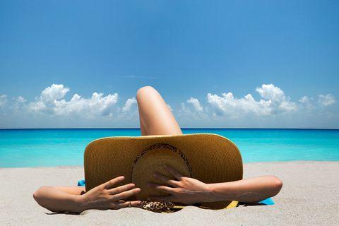 Sun tanning, Vacation, Sky, Blue, Skin, Summer, Beach, Sea, Tropics, Tan,