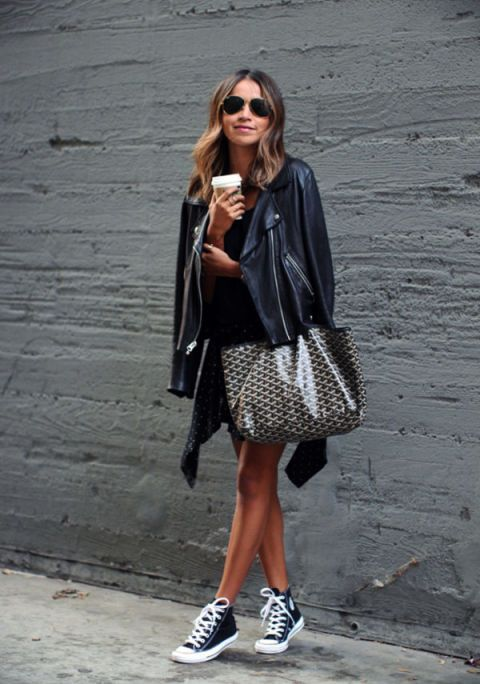 converse negras outfit