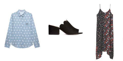 Clothing, Polka dot, Outerwear, Pattern, Footwear, Design, Sleeve, Pattern, Blouse, Shirt,