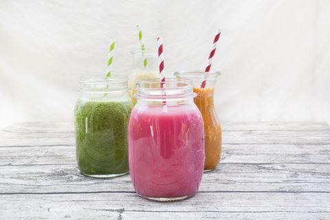 Drink, Juice, Smoothie, Health shake, Vegetable juice, Mason jar, Food, Italian soda, Non-alcoholic beverage, Aguas frescas,