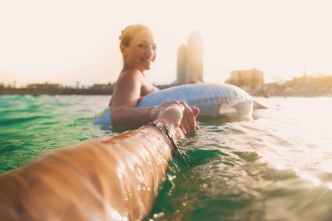 Water, Summer, Fun, Vacation, Sunlight, Leisure, Blond, Sea, Recreation, Photography,