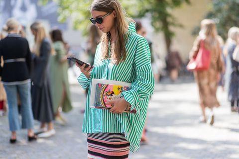 Street fashion, Clothing, Fashion, Green, Sunglasses, Eyewear, Turquoise, Footwear, Outerwear, Dress,