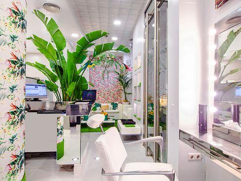 Green, Interior design, Room, Property, Bathroom, Houseplant, Building, Plant, Architecture, Design,