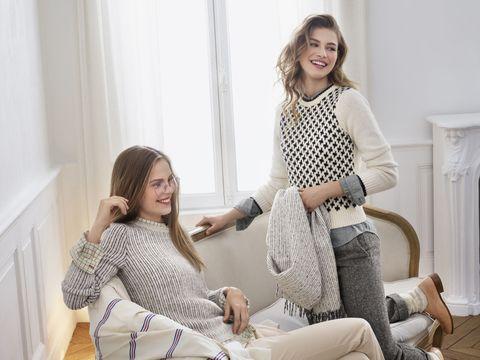 White, Clothing, Shoulder, Outerwear, Fashion, Pattern, Sleeve, Pajamas, Design, Polka dot,