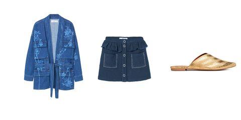 Clothing, Denim, Blue, Outerwear, Jeans, Jacket, Textile, Footwear, Sleeve, Coat,