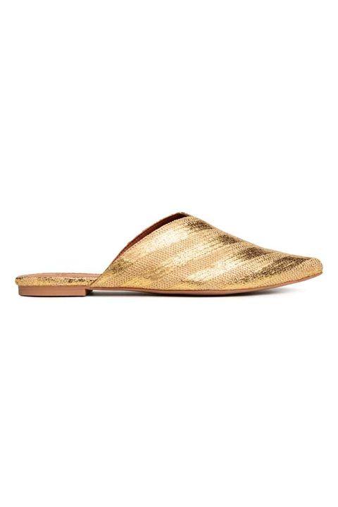 Footwear, Shoe, Tan, Slingback, Slipper, Beige, Sandal, Leather,