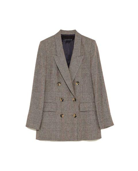 Clothing, Outerwear, Jacket, Blazer, Beige, Sleeve, Suit, Top, Button, Pocket,
