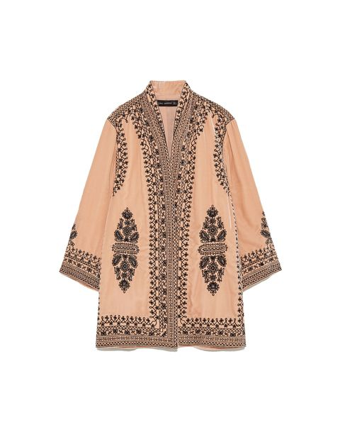 Clothing, Outerwear, Sleeve, Beige, Blouse, Top, Neck, Jacket, Peach, Cardigan,