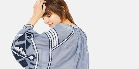 Clothing, White, Shoulder, Sleeve, Outerwear, Neck, Joint, Arm, Jacket, Design,