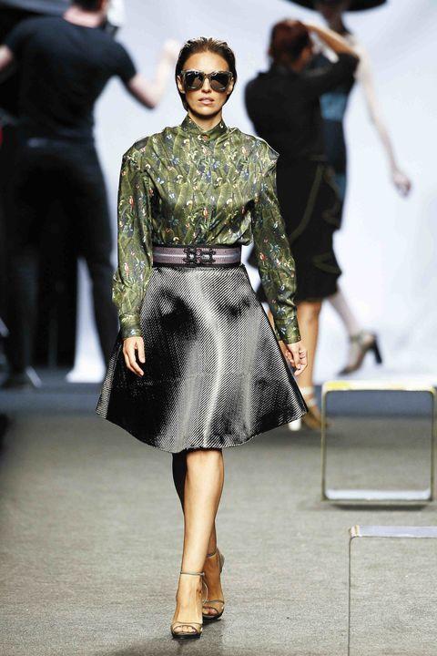 Fashion model, Fashion, Fashion show, Runway, Clothing, Eyewear, Haute couture, Dress, Street fashion, Fashion design,