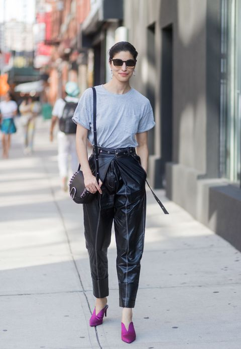 Clothing, Street fashion, Fashion, Jeans, Eyewear, Waist, Shoulder, Snapshot, Denim, Footwear,