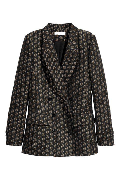 Clothing, Outerwear, Sleeve, Blazer, Jacket, Coat, Top, Pattern, Blouse,