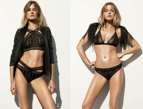 Lingerie, Clothing, Fashion model, Undergarment, Bikini, Model, Brassiere, Swimwear, Lingerie top, Photo shoot,