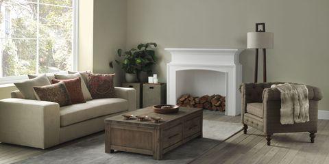 Furniture, Living room, Room, Floor, Laminate flooring, Wood flooring, Interior design, Coffee table, Flooring, Couch,