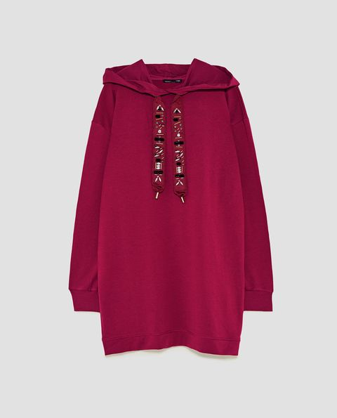 Clothing, Outerwear, Sleeve, Maroon, Magenta, Blouse,