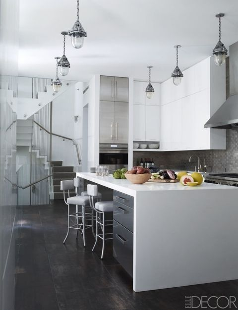 Countertop, Kitchen, White, Room, Furniture, Cabinetry, Interior design, Property, Floor, Tile,