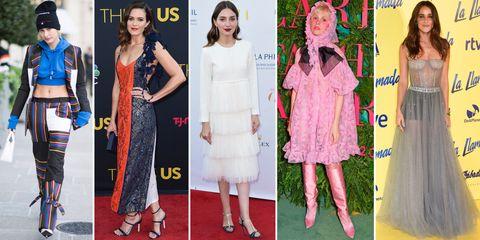 Clothing, Fashion, Dress, Red carpet, Pink, Street fashion, Footwear, Carpet, Fashion design, Flooring,