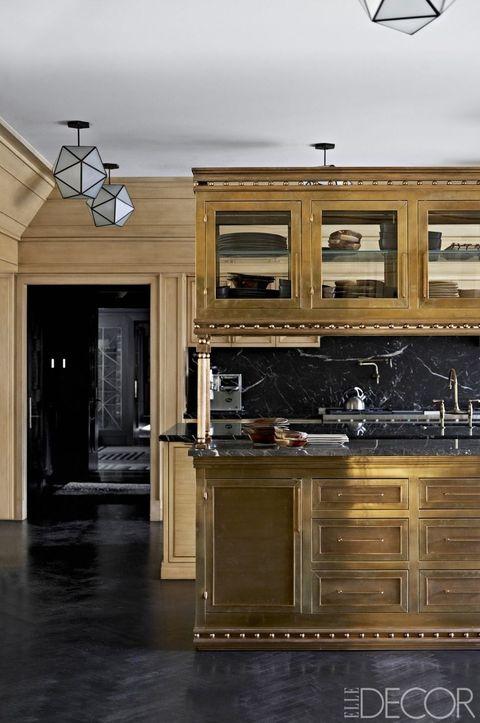 Countertop, Cabinetry, Room, Furniture, Kitchen, Property, Interior design, Ceiling, Lighting, Floor,