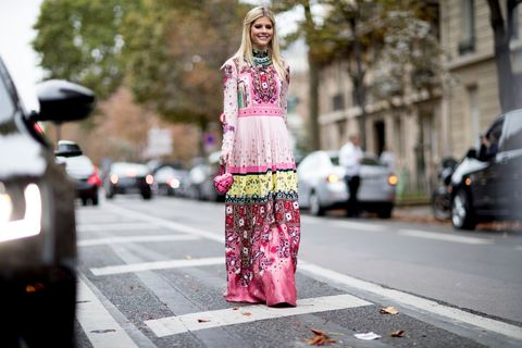 Street fashion, Pink, Clothing, Fashion, Dress, Haute couture, Street, Costume, Textile, Kimono,