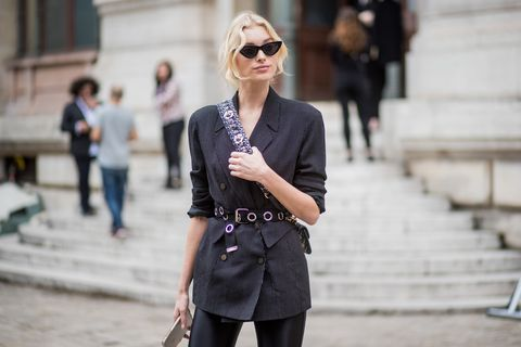 Street fashion, Clothing, Photograph, Eyewear, Black, Fashion, Sunglasses, Shoulder, Snapshot, Outerwear,
