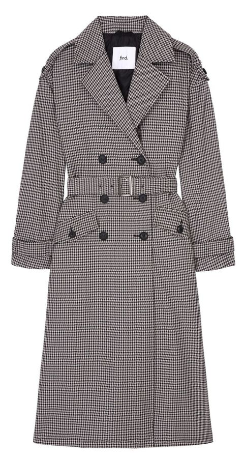 Clothing, Coat, Trench coat, Outerwear, Overcoat, Pattern, Robe, Sleeve, Day dress, Design,