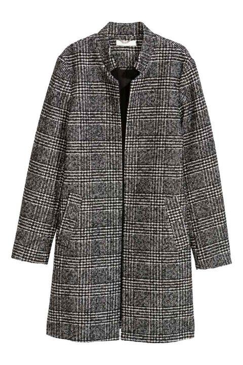Clothing, Outerwear, Coat, Pattern, Sleeve, Tartan, Plaid, Jacket, Overcoat, Design,