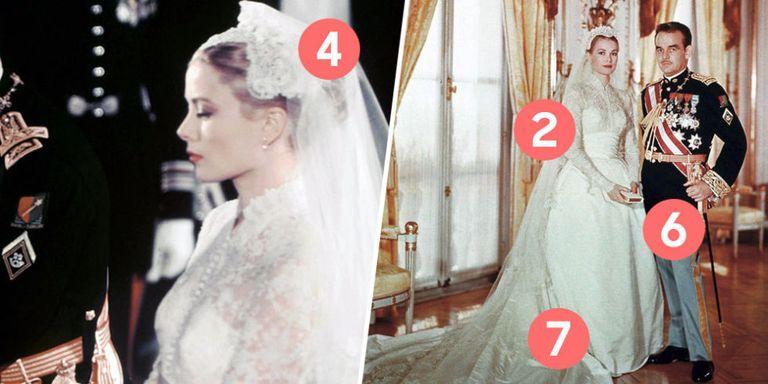 10 detalles que no sabías sobre el vestido de novia de Grace Kelly ...