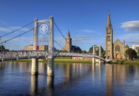 Landmark, Bridge, Reflection, Sky, River, Water, City, Architecture, Tower, Urban area,