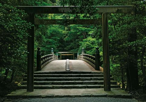 Jardines japoneses:  Gran Santuario de Ise, Ise Jingu