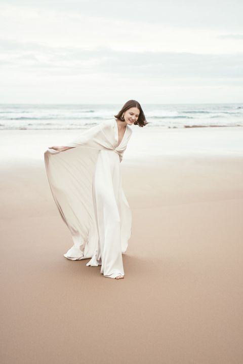 White, Photograph, Dress, Beauty, Skin, Shoulder, Sky, Standing, Pink, Photo shoot,