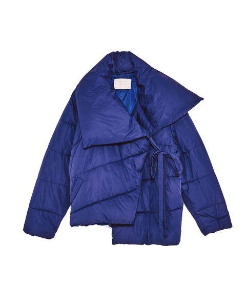 Clothing, Outerwear, Cobalt blue, Jacket, Blue, Sleeve, Violet, Purple, Electric blue, Collar,