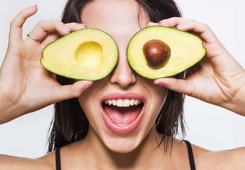 Face, Avocado, Skin, Natural foods, Nose, Neck, Head, Beauty, Fruit, Eyewear,