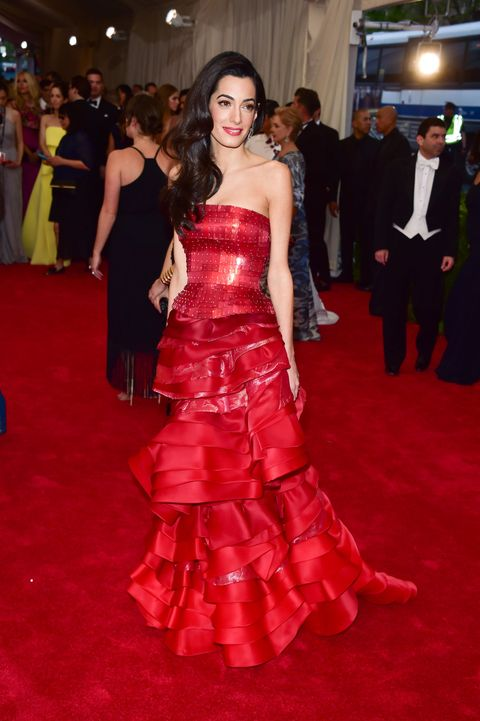NEW YORK, NY - MAY 04:  Amal Clooney attends the 'China: Through The Looking Glass' Costume Institute Benefit Gala at Metropolitan Museum of Art on May 4, 2015 in New York City.  (Photo by George Pimentel/WireImage)