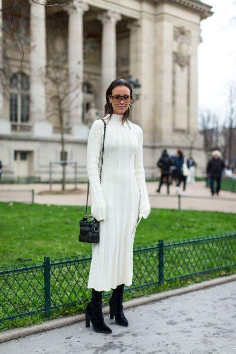 13 maneras de vestirse de blanco en invierno