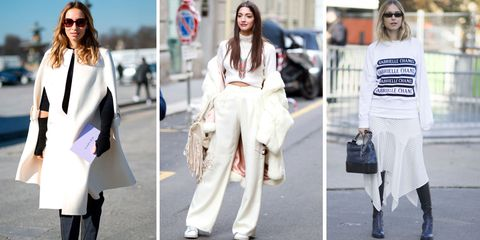 Clothing, White, Street fashion, Fashion, Footwear, Jeans, Outerwear, Fashion model, Shoe, Coat,
