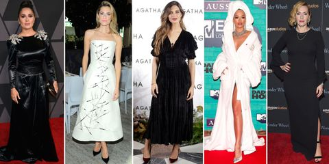 Clothing, Fashion model, Dress, Red carpet, Carpet, Fashion, Footwear, Shoulder, Flooring, Premiere,