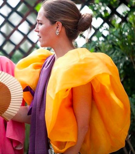 Yellow, Clothing, Orange, Outerwear, Street fashion, Fashion accessory, Costume,