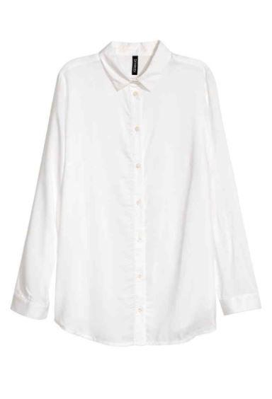 Clothing, White, Sleeve, Outerwear, Collar, Blouse, Shirt, Top, Neck, Button,