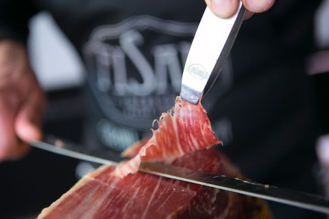 Food, Cuisine, Meat, Dish, Flesh, Hand, Red meat, Meat carving, Cooking, Grilling,