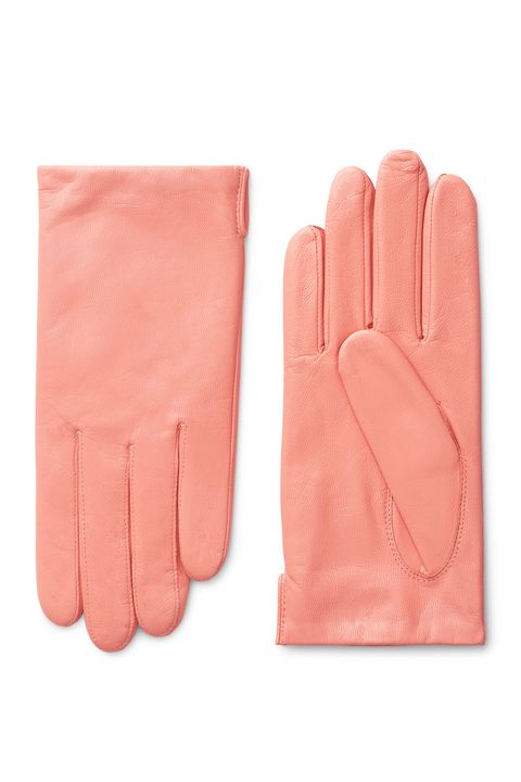 Glove, Safety glove, Pink, Personal protective equipment, Hand, Finger, Fashion accessory, Leather, Sports gear,