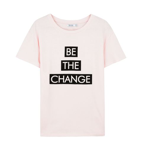 T-shirt, Clothing, White, Product, Sleeve, Text, Pink, Top, Font, Active shirt,