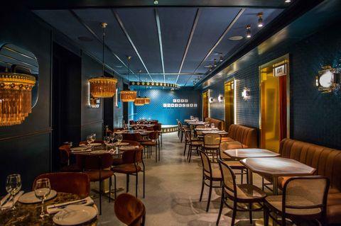 Restaurant, Building, Room, Interior design, Table, Furniture, Café, Architecture, Chair, Dining room,