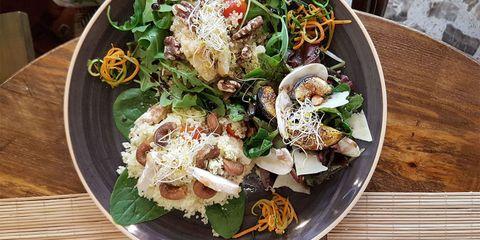 Dish, Food, Salad, Cuisine, Ingredient, Karedok, Spinach salad, Produce, Lunch, Chinese chicken salad,