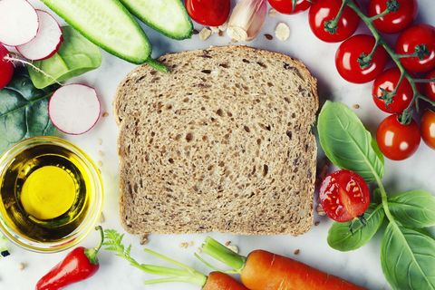 Dish, Food, Cuisine, Ingredient, Gluten, Produce, Sliced bread, Staple food, Lunch, Vegetarian food,