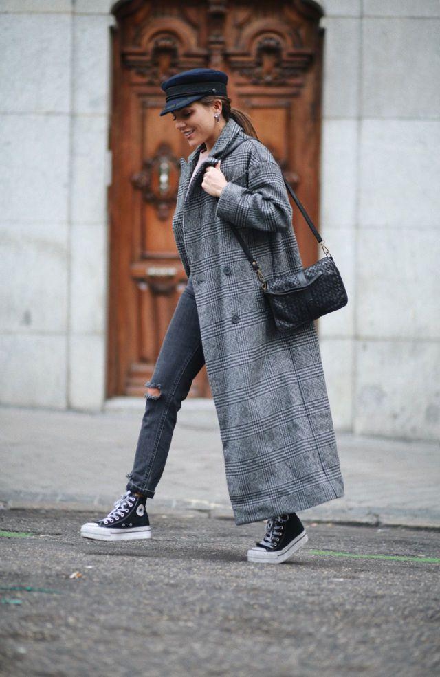 converse mujer grises altas plataforma
