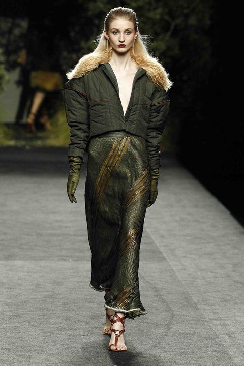 Fashion model, Fashion show, Runway, Fashion, Clothing, Human, Public event, Outerwear, Event, Haute couture,