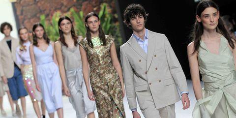 Fashion model, Fashion, Clothing, Fashion design, Event, Dress, Formal wear, Runway, Haute couture, Fashion show,
