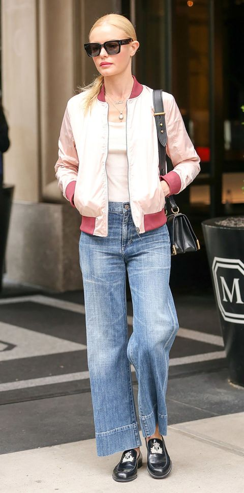 Clothing, Jeans, Denim, Street fashion, Outerwear, Jacket, Fashion, Snapshot, Blazer, Pink,